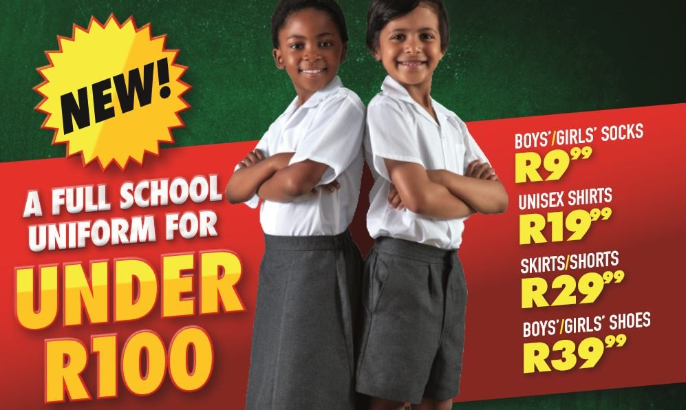 shoprite school uniform